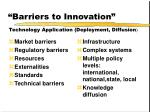 barriers to innovation11
