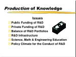 production of knowledge4
