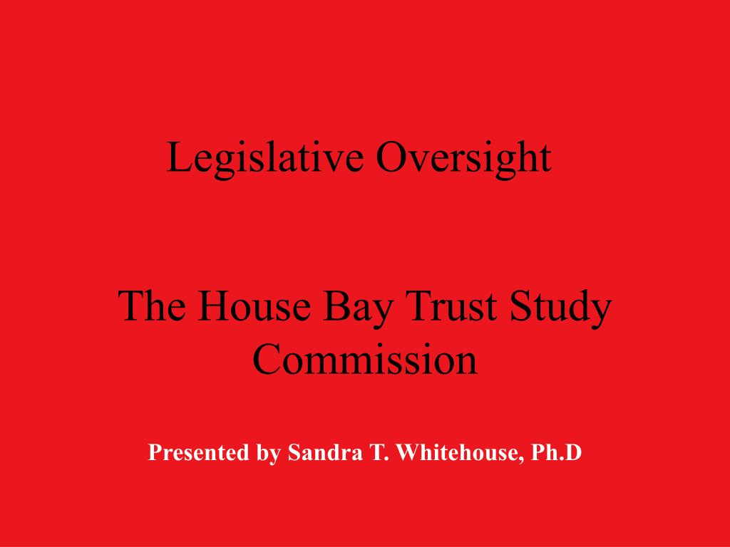 legislative oversight l.