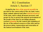 r i constitution article 1 section 17