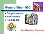 generalities 000