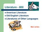 literature 800