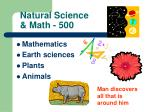 natural science math 500