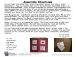 assembly directions
