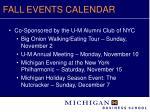 fall events calendar11