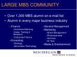 large mbs community