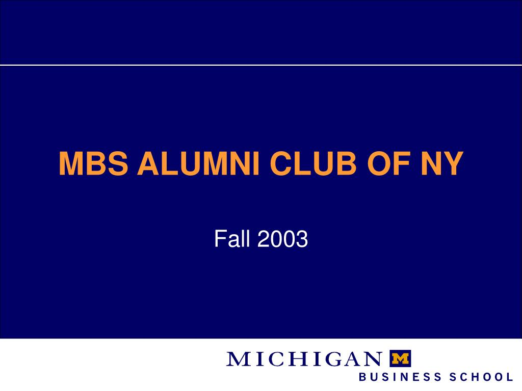 mbs alumni club of ny l.
