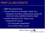past club events6