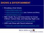 shows entertainment