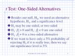 t test one sided alternatives