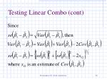 testing linear combo cont