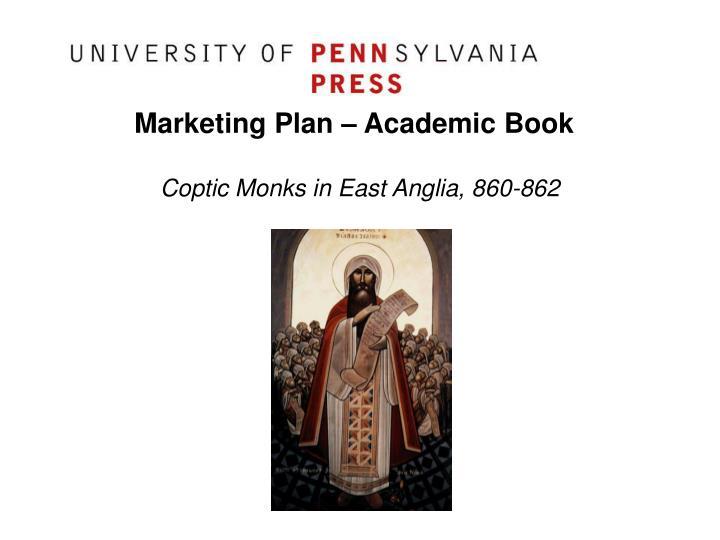 Marketing plan academic book