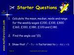 starter questions22