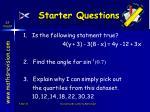 starter questions28