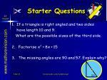 starter questions49