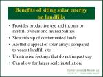 benefits of siting solar energy on landfills