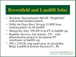 brownfield and landfill solar