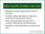 other benefits of utility scale solar