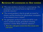 reviewer 2 comments re first version