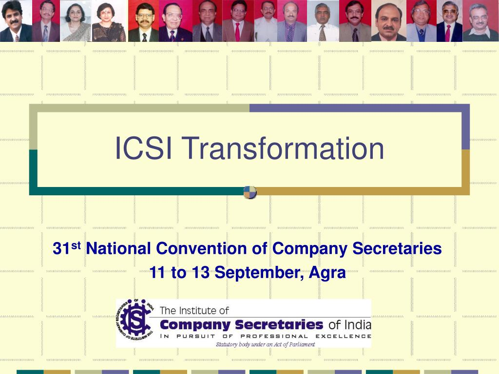 31 st national convention of company secretaries 11 to 13 september agra l.