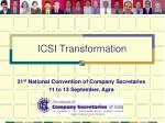 31 st national convention of company secretaries 11 to 13 september agra