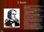 g boole