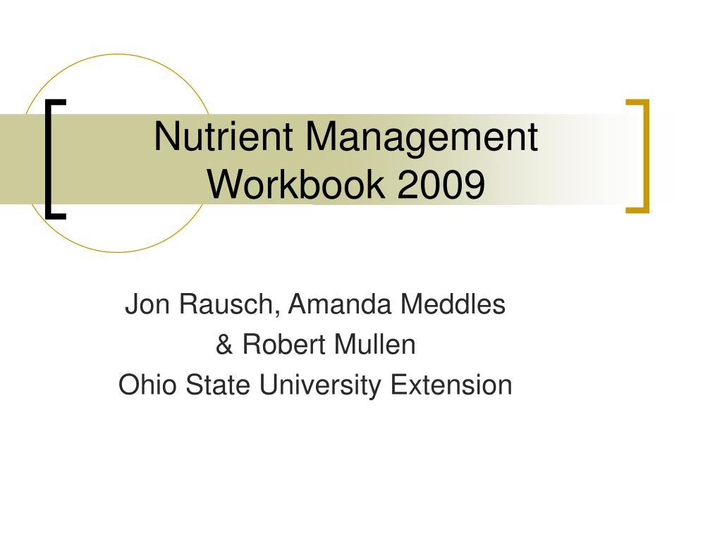 nutrient management workbook 2009 l.