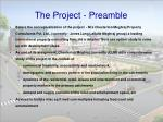 the project preamble