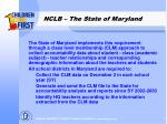 nclb the state of maryland