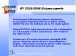 sy 2005 2006 enhancements