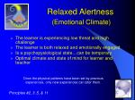 relaxed alertness emotional climate