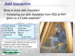 add insulation