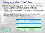 doing your own half plan48