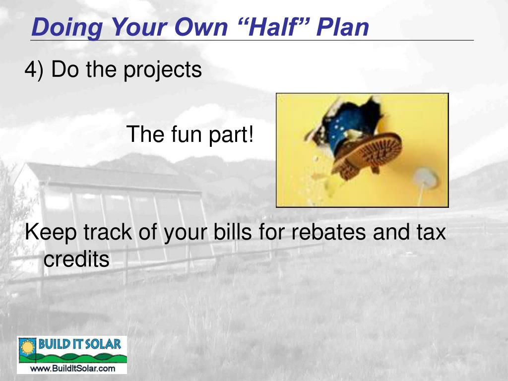 """Doing Your Own """"Half"""" Plan"""