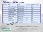 efficient lights cont d