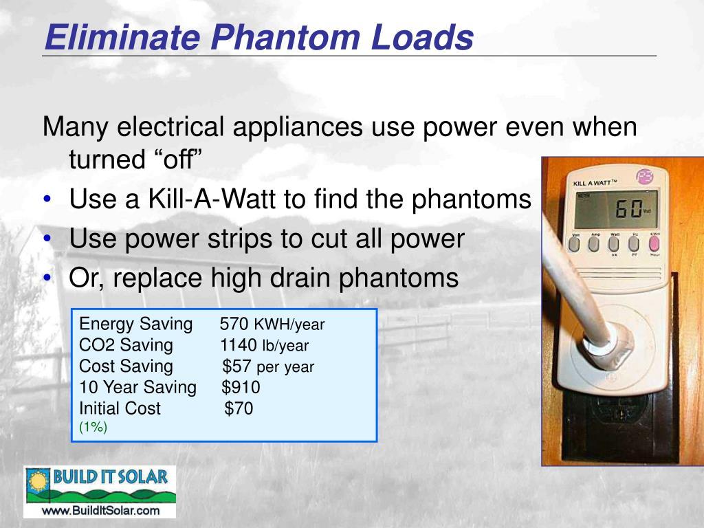 Eliminate Phantom Loads