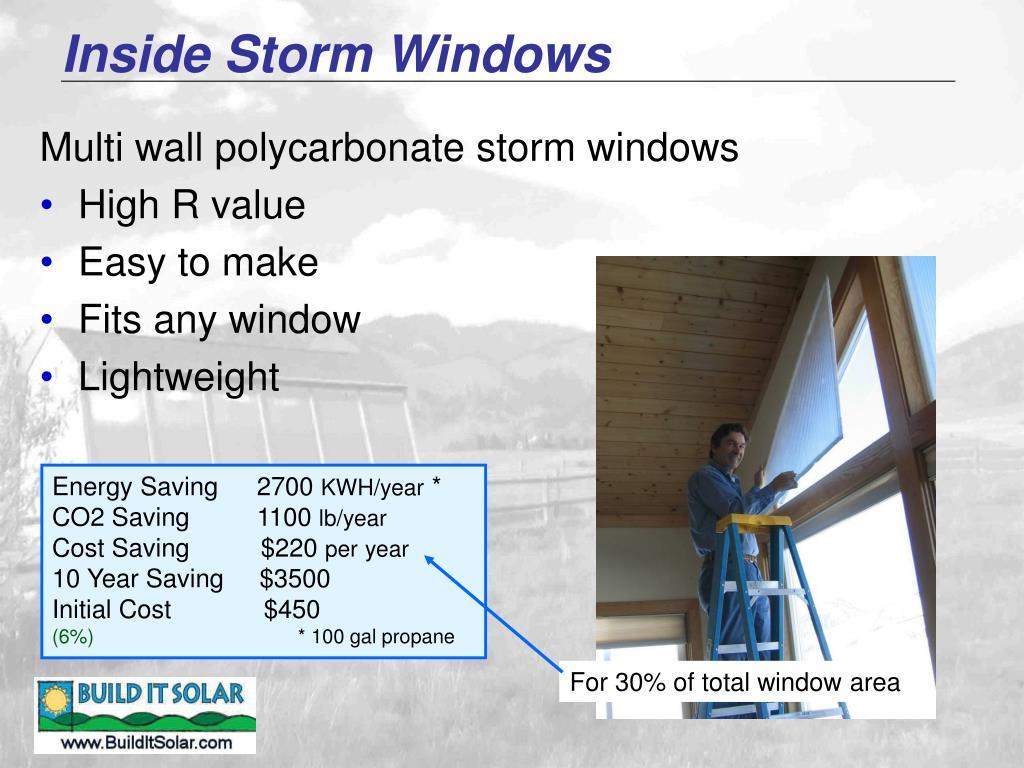 Inside Storm Windows