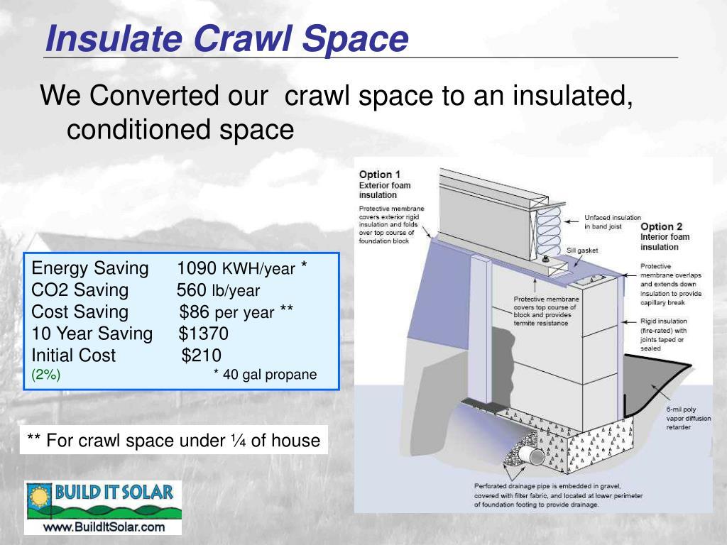 Insulate Crawl Space