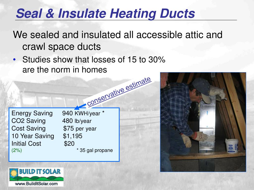 Seal & Insulate Heating Ducts