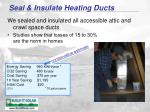seal insulate heating ducts