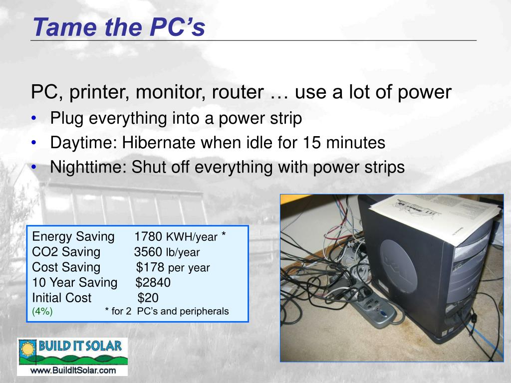 Tame the PC's