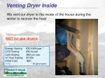 venting dryer inside