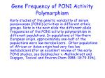 gene frequency of pon1 activity polymorphism