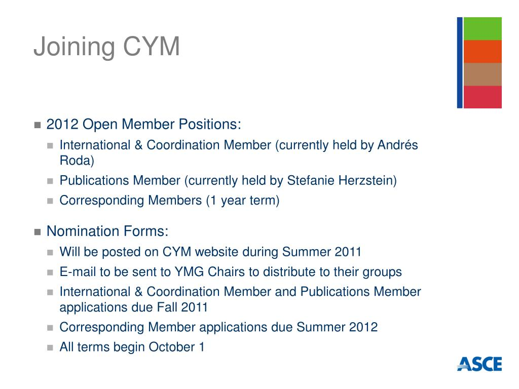 Joining CYM