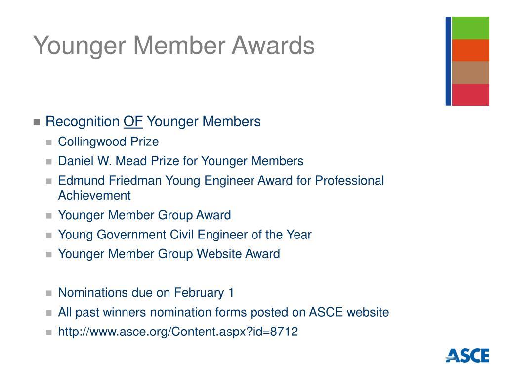 Younger Member Awards
