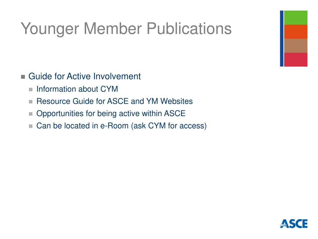 Younger Member Publications