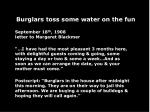 burglars toss some water on the fun