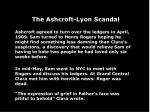 the ashcroft lyon scandal76