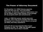 the power of attorney document