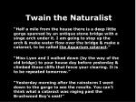twain the naturalist